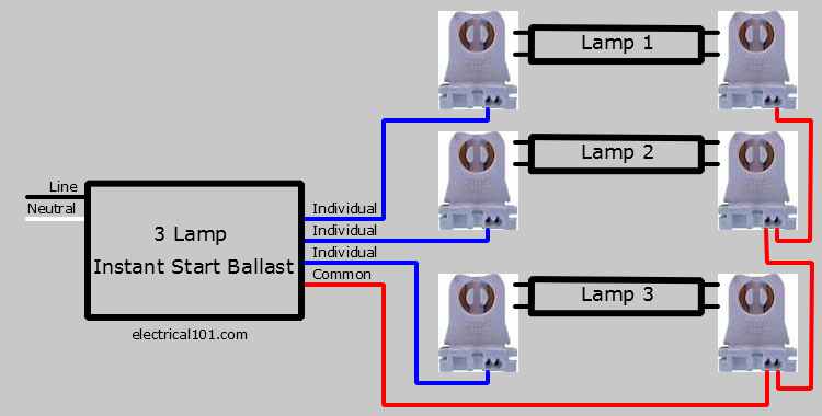 3 Lamp Parallel Ballast Wiring Diagram