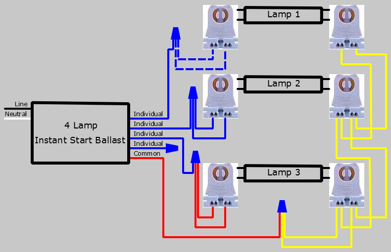 3 Lamp Series To 4 Lamp Parallel Lampholder Wiring Diagram