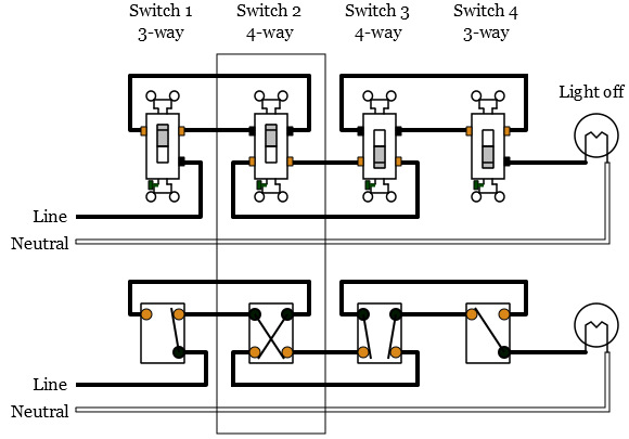 4-Way Light Switch Wiring Diagram 2