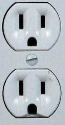 Damaged receptacle