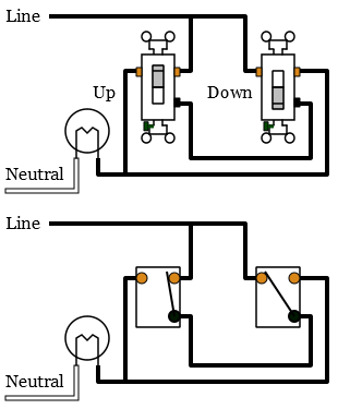 Alternate 3-way switch wiring diagram A thumb