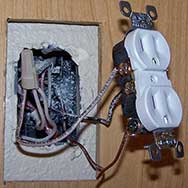 Receptacle Pulled Out of Box